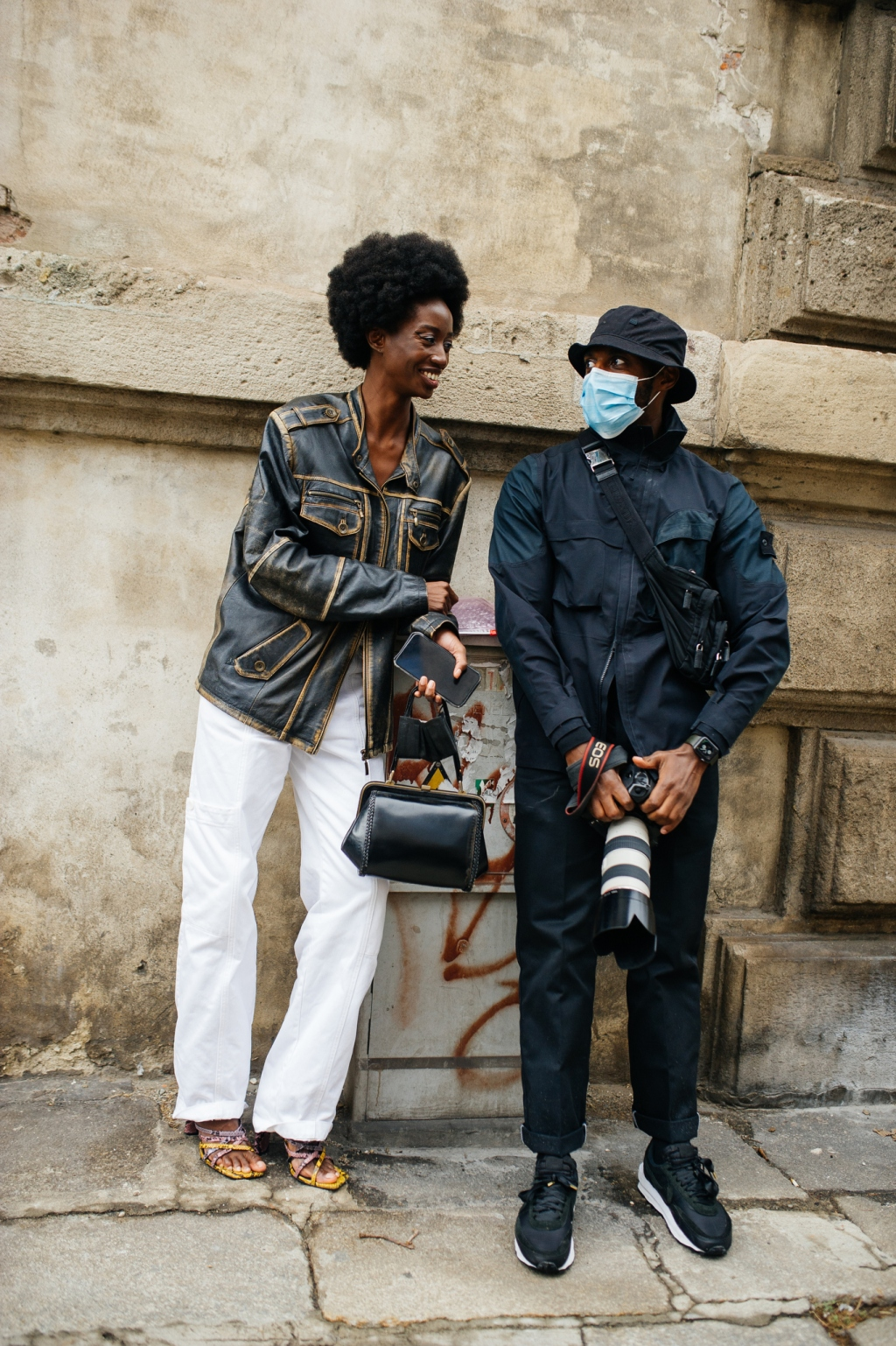 Street style at Milan Fashion Week Spring 2021