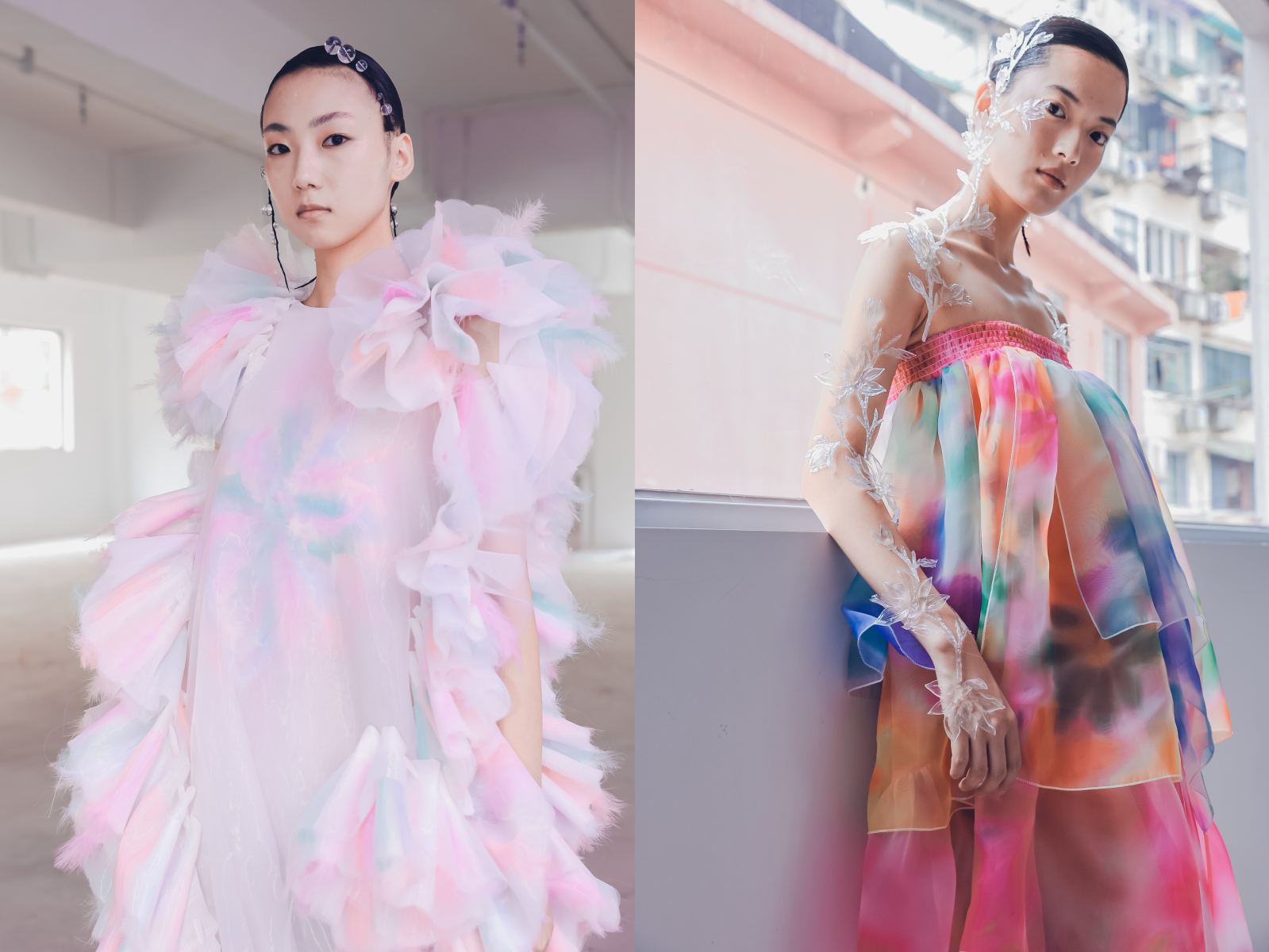 Looks from Susan Fang spring 2021 collection.