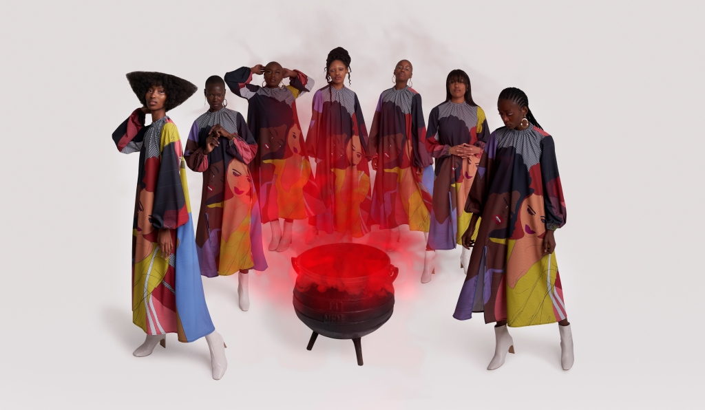 An image from Thebe Magugu's fall 2020 campaign.