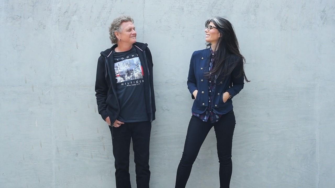 Def Leppard drummer Rick Allen and his wife and musician Lauren Monroe.