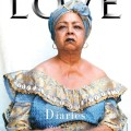 Denise Balugo photographed by her son Jahmad Balugo on the cover of Love magazine.