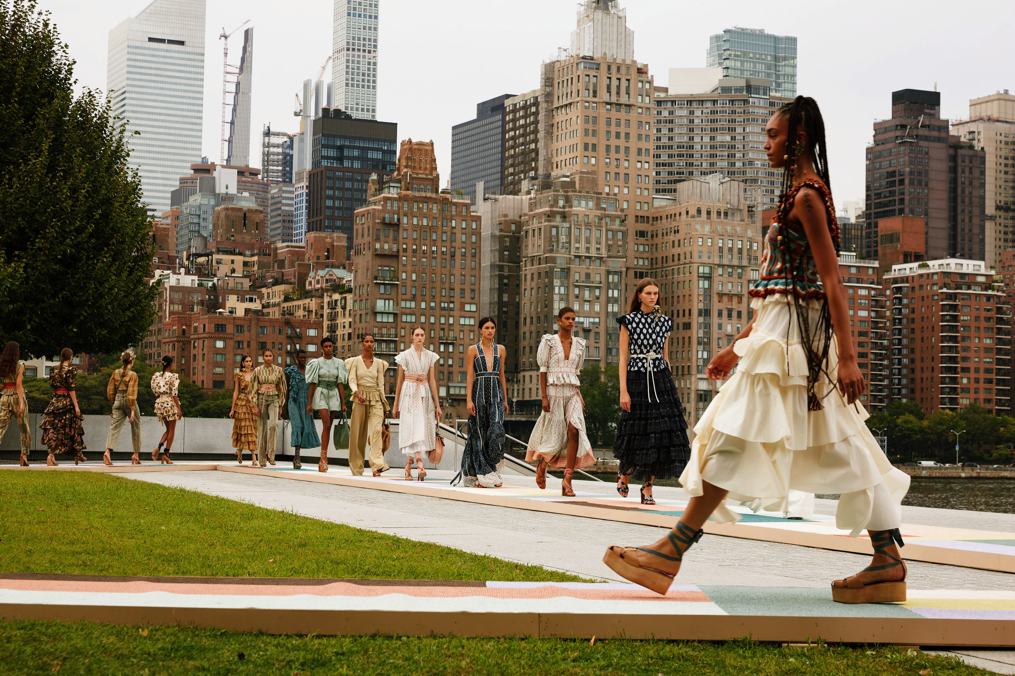 Ulla Johnson's Spring RTW 2021 collection was filmed in Four Freedoms Park.