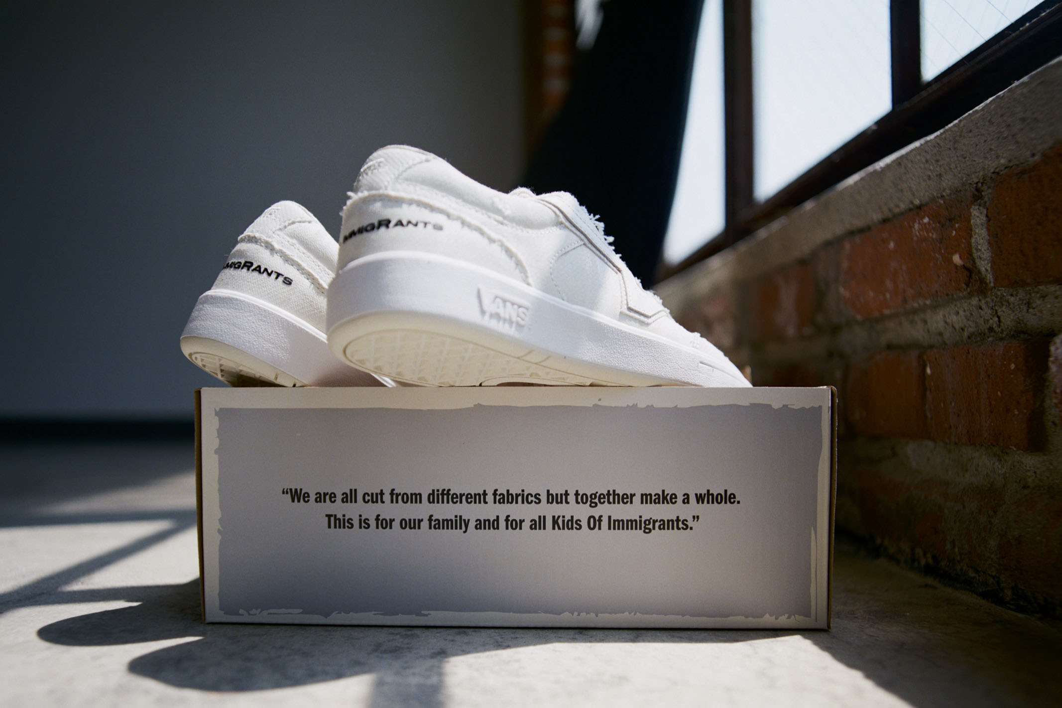 The Vans, Kids of Immigrants collab sneaker, Work a Day in Our Shoes