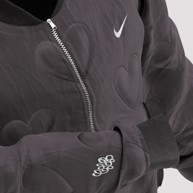 The quilted heart puffer jacket for friends and family