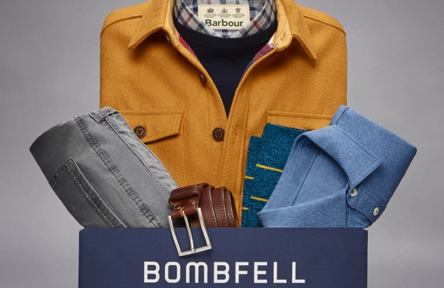 Bombfell is a men's subscription service.