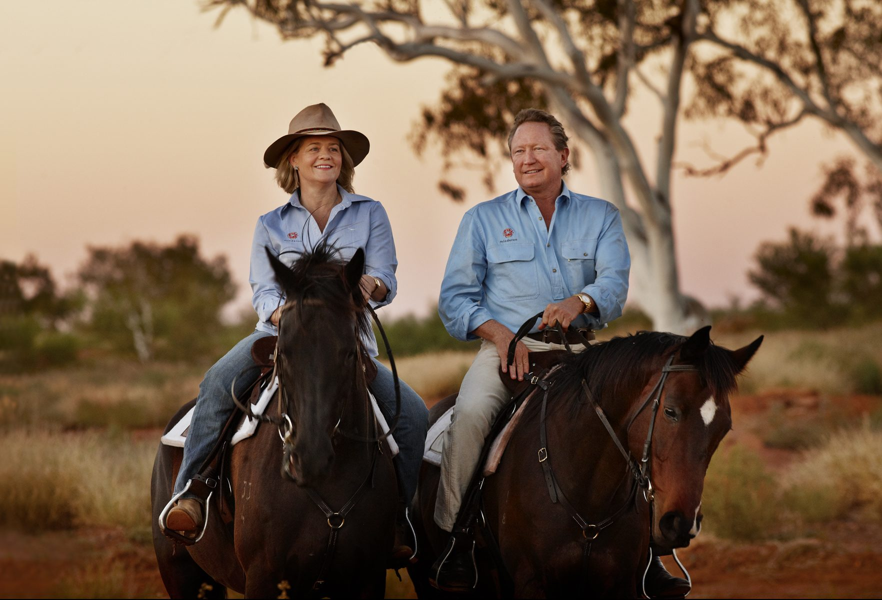 R.M. Williams new owners Nicola and Andrew Forrest.