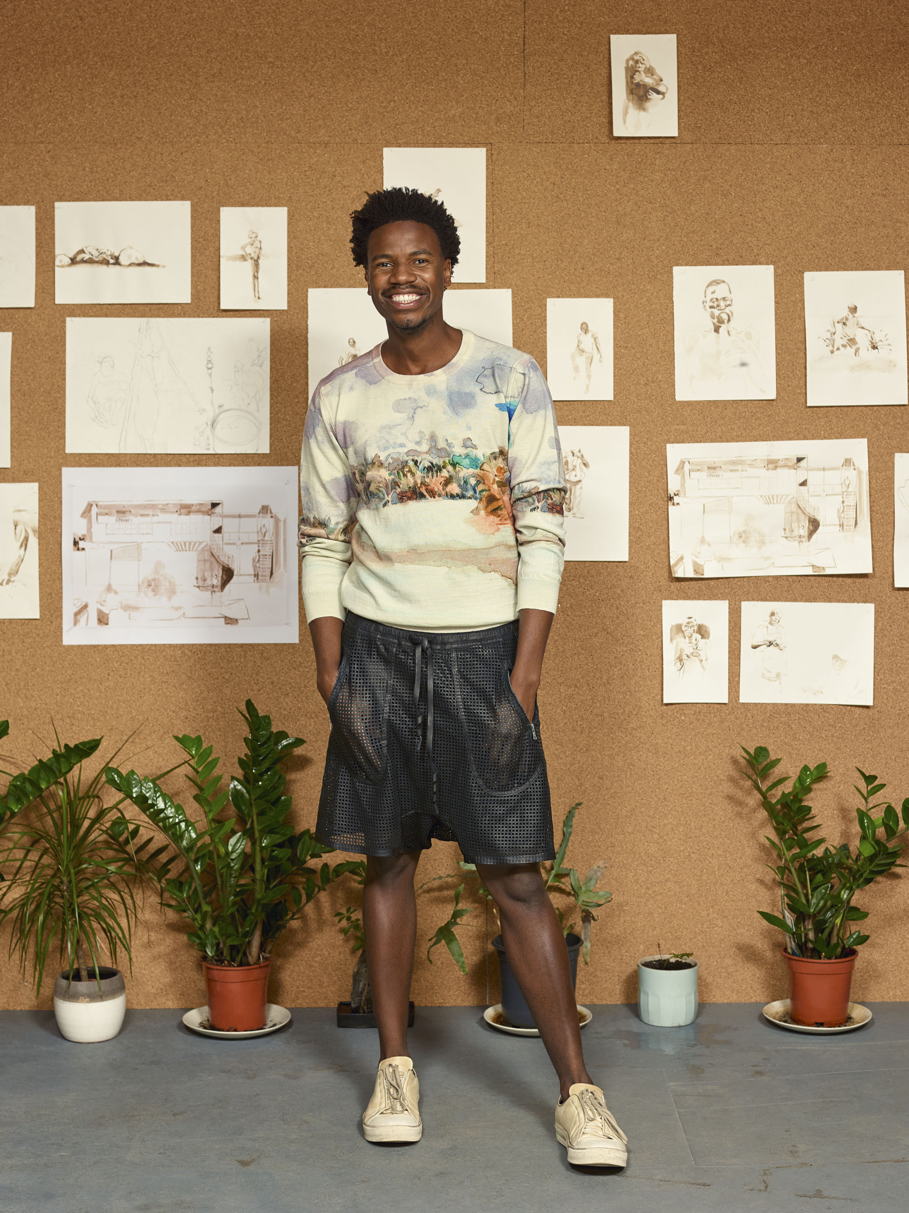 Kiziwani sweater by Stella Jean and Michael Armitage for ArtColLab 2020.