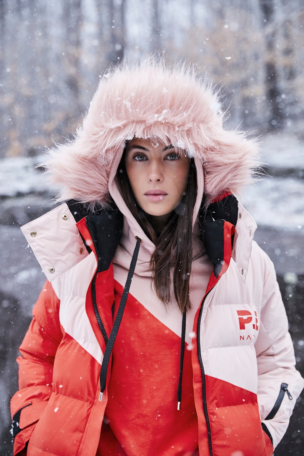 A look from P.E. Nation's new snow collection.