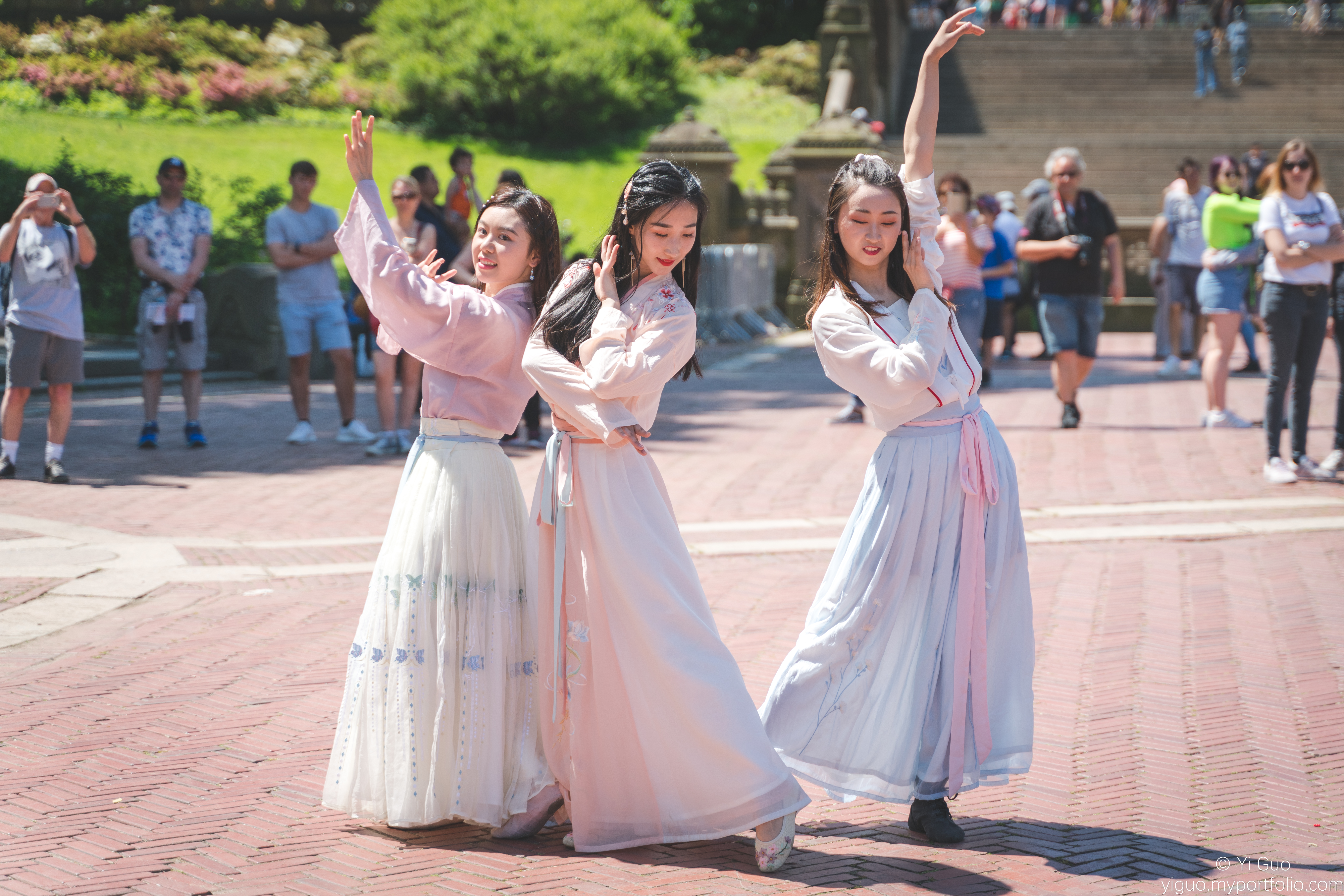 Hanfu dance performance in New York's Central Park, organized by New York Hanfu Corporation