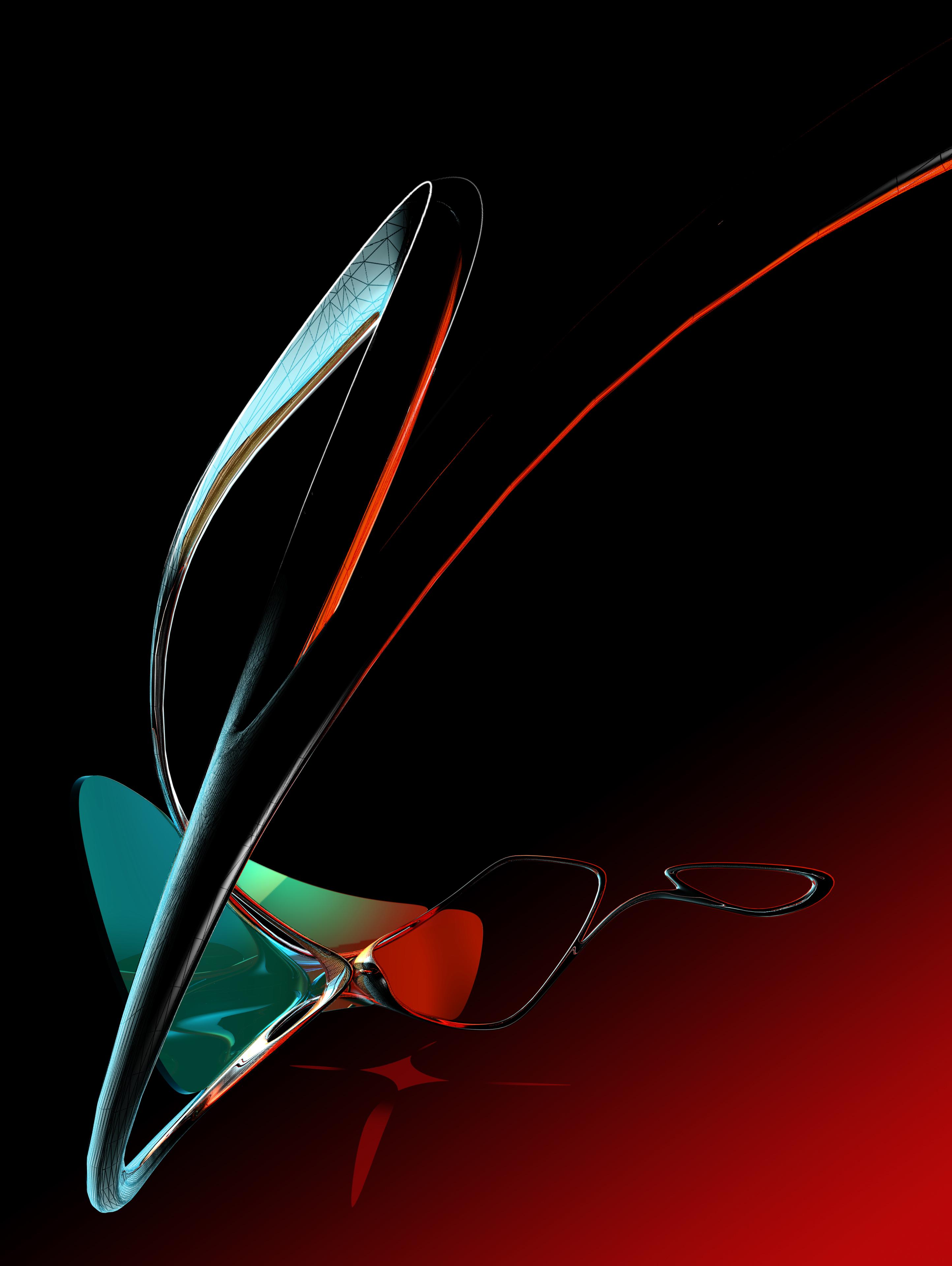 A close up of Zaha Hadid Design x The Owner futuristic collaboration