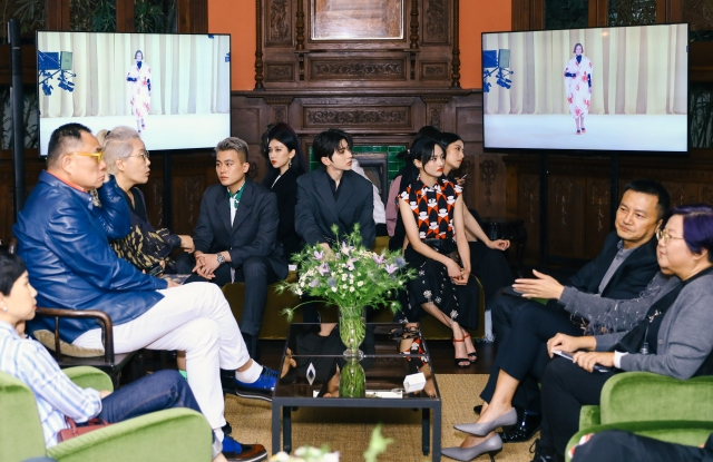 Prada hosted a reception for 180 guests to watch the show at Rong Zhai mansion in Shanghai