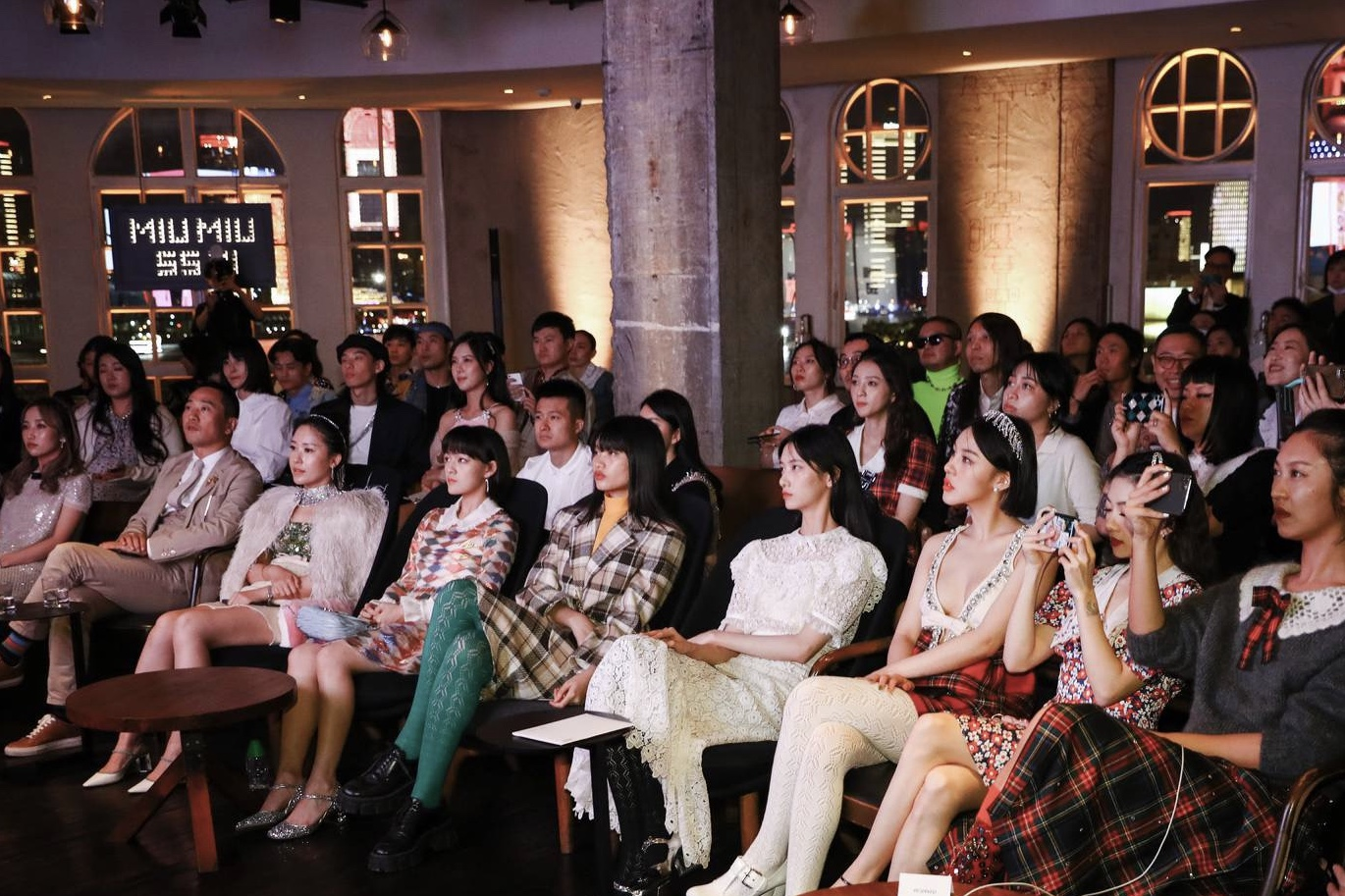 Miu Miu viewing event at Mercato by Jean Georges on the bund in Shanghai