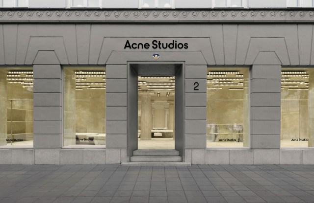 The renovated Acne Studios store on Norrmalmstorg in Stockholm.