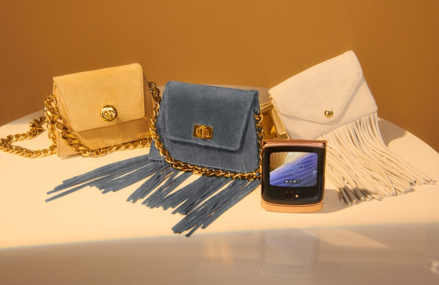 Christian Cowan enters handbag category with collaboration for Motorola Razr 5G.