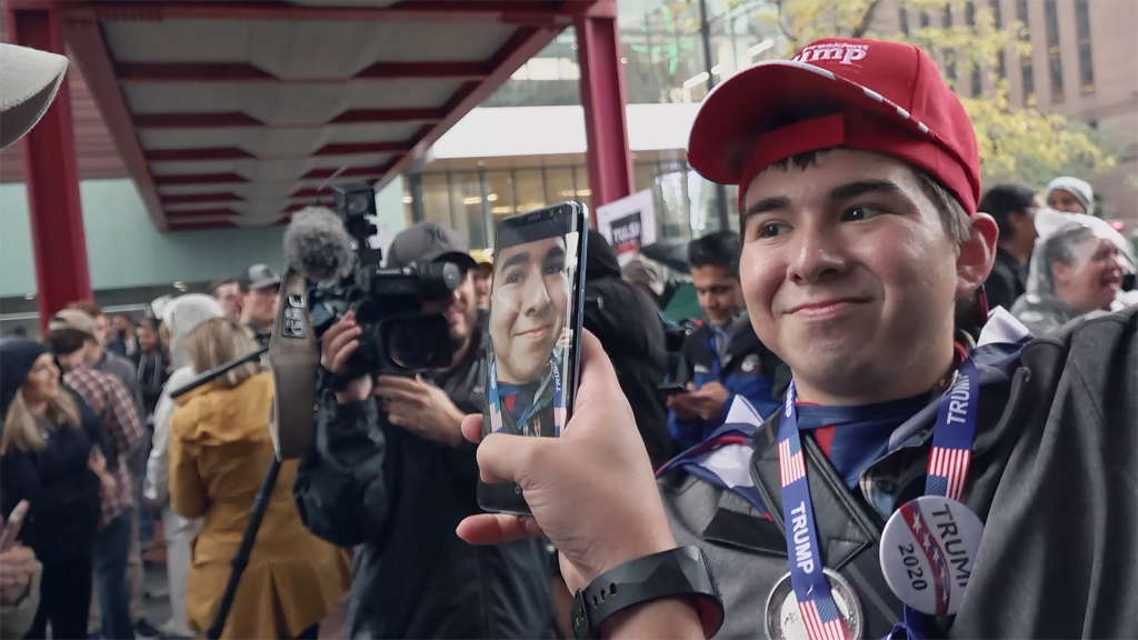 """A still from """"American Selfie: One Nation Shoots Itself"""" directed by Alexandra Pelosi."""