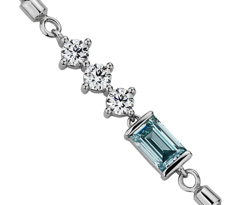 Lightbox diamonds in a new bracelet design to be sold through Blue Nile.