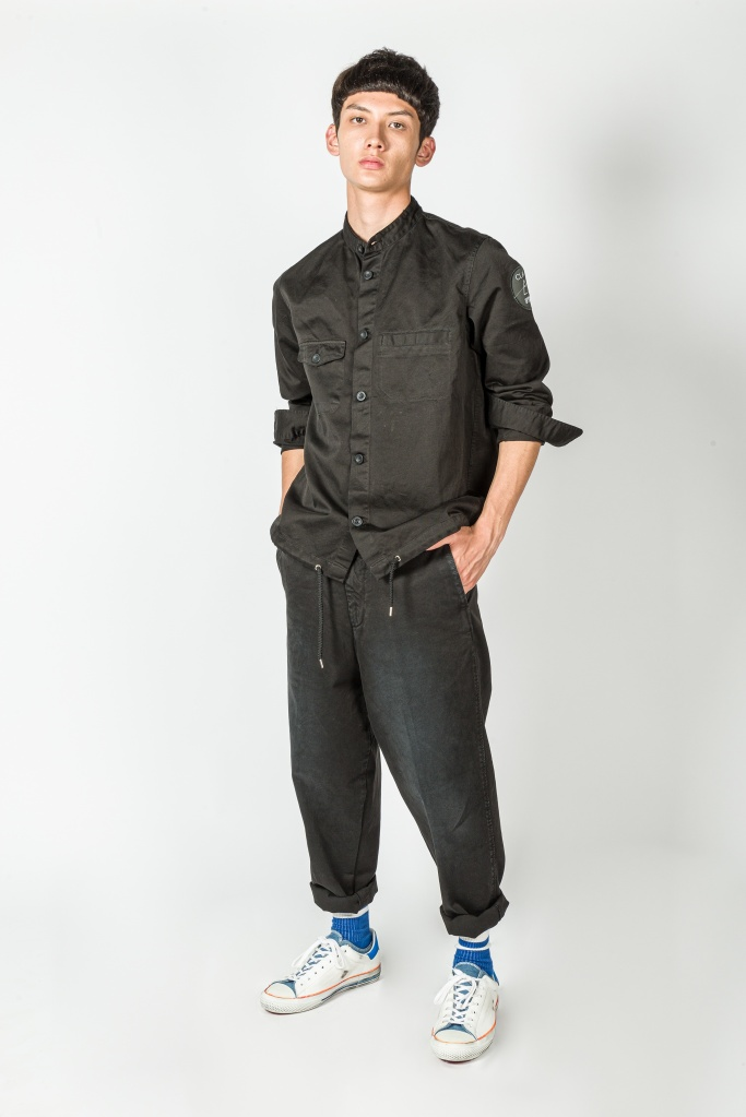A men's wear look from the Clan Upstairs private label.