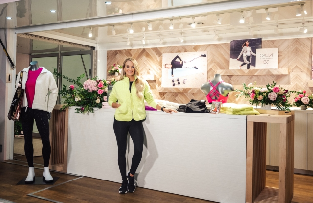 Carrie Underwood at a Calia pop-up shop in Nashville.