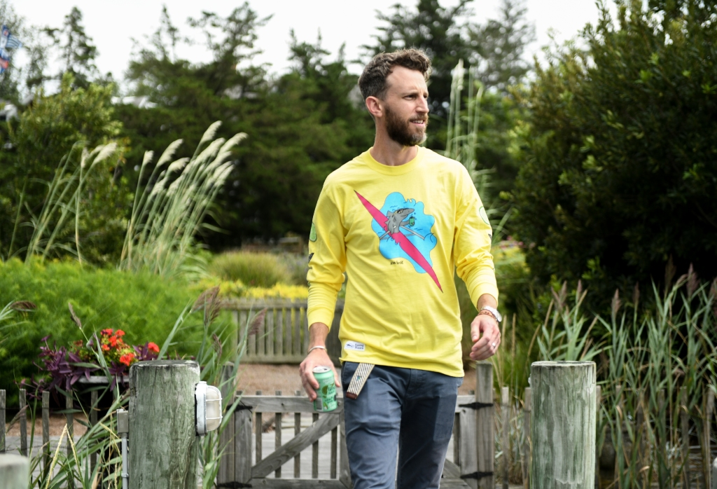 The long-sleeve T-shirt from Dogfish Head x Rowing Blazers.