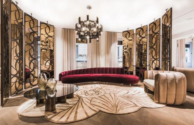 Elie Saab Maison showroom in Milan