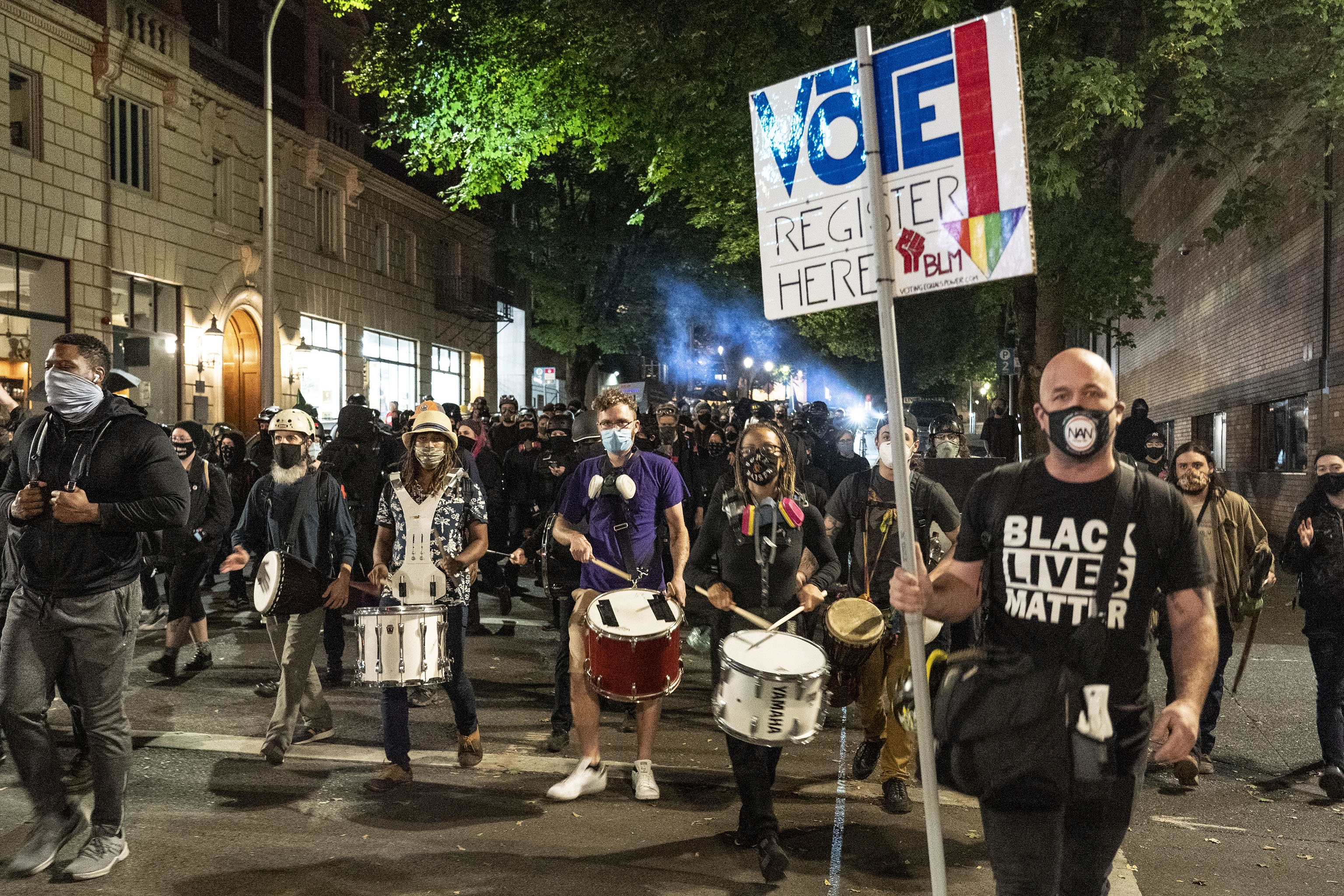 Black Lives Matter protesters in Portland.