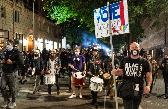 Black Lives Matter protesters in Portland.