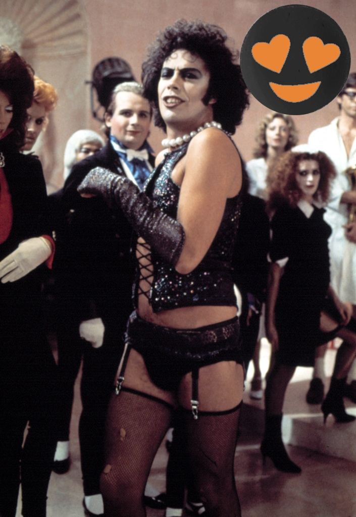 ROCKY HORROR PICTURE SHOW, Tim Curry, 1975. TM and Copyright © 20th Century Fox Film Corp. All rights reserved. Courtesy: Everett Collection.