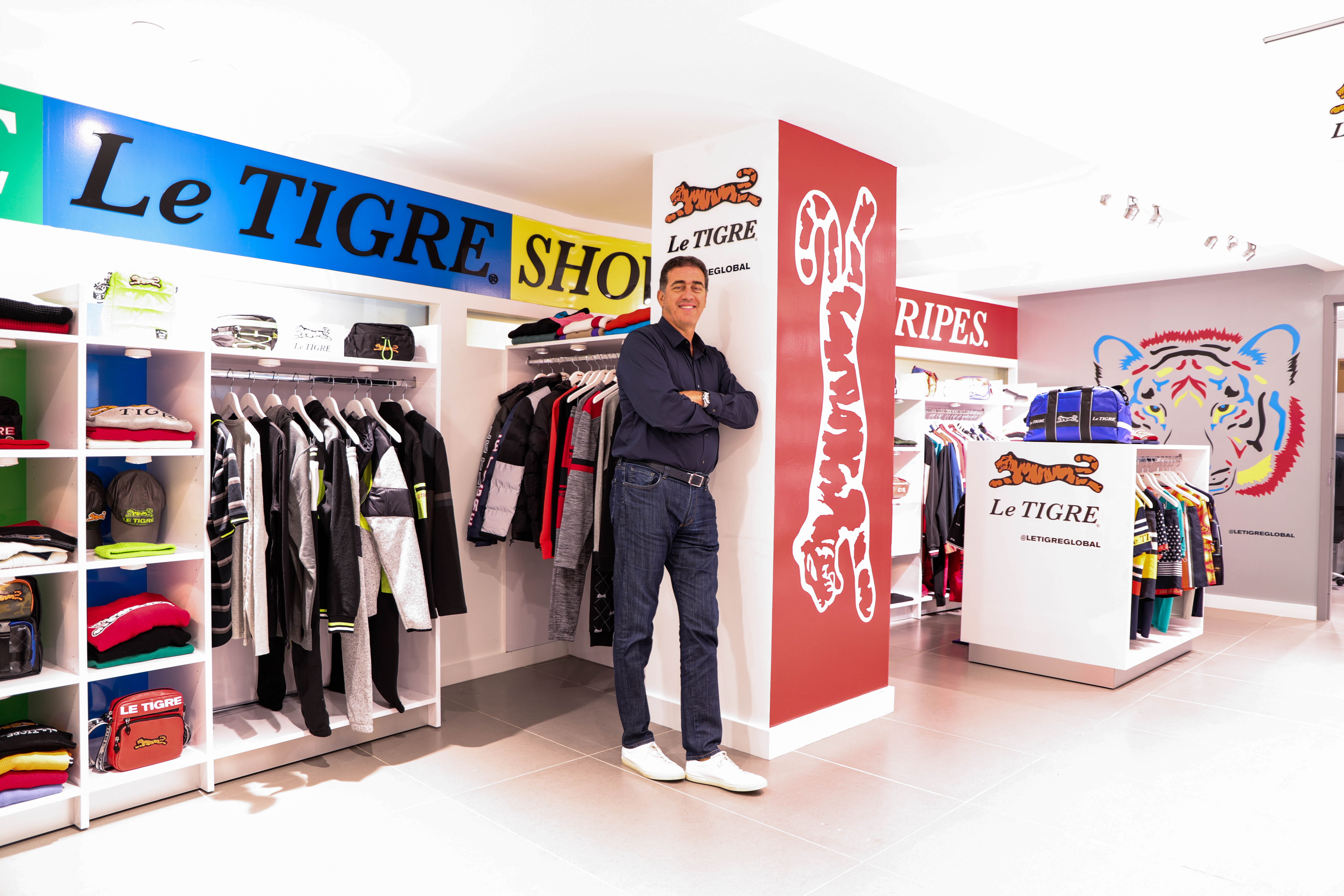 Ike Franco in the Le Tigre showroom.