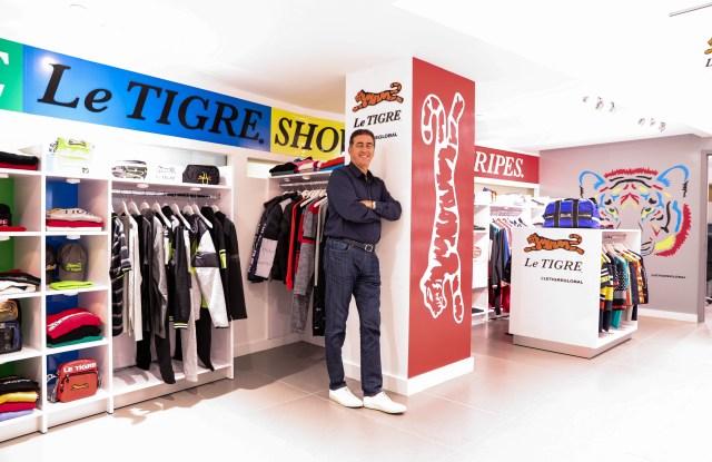 Ike Franco in the Le Tigre showroom.
