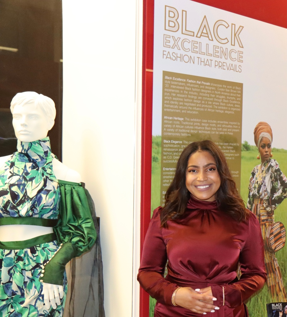 """Sian Brown at the opening of her exhibition """"Black Excellence"""""""