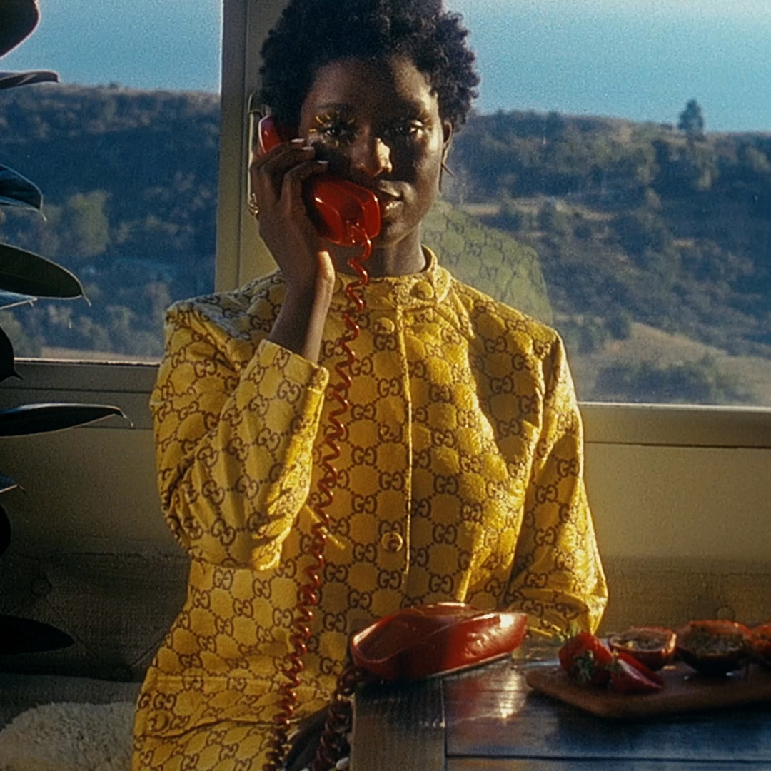 Film still image from Jodie Turner-Smith's short film for Gucci