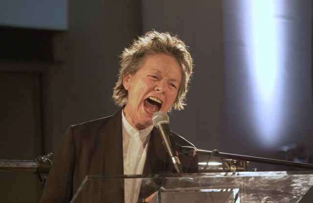 Laurie Anderson, Performa 17 Gala opening night. Photo © Paula Court.