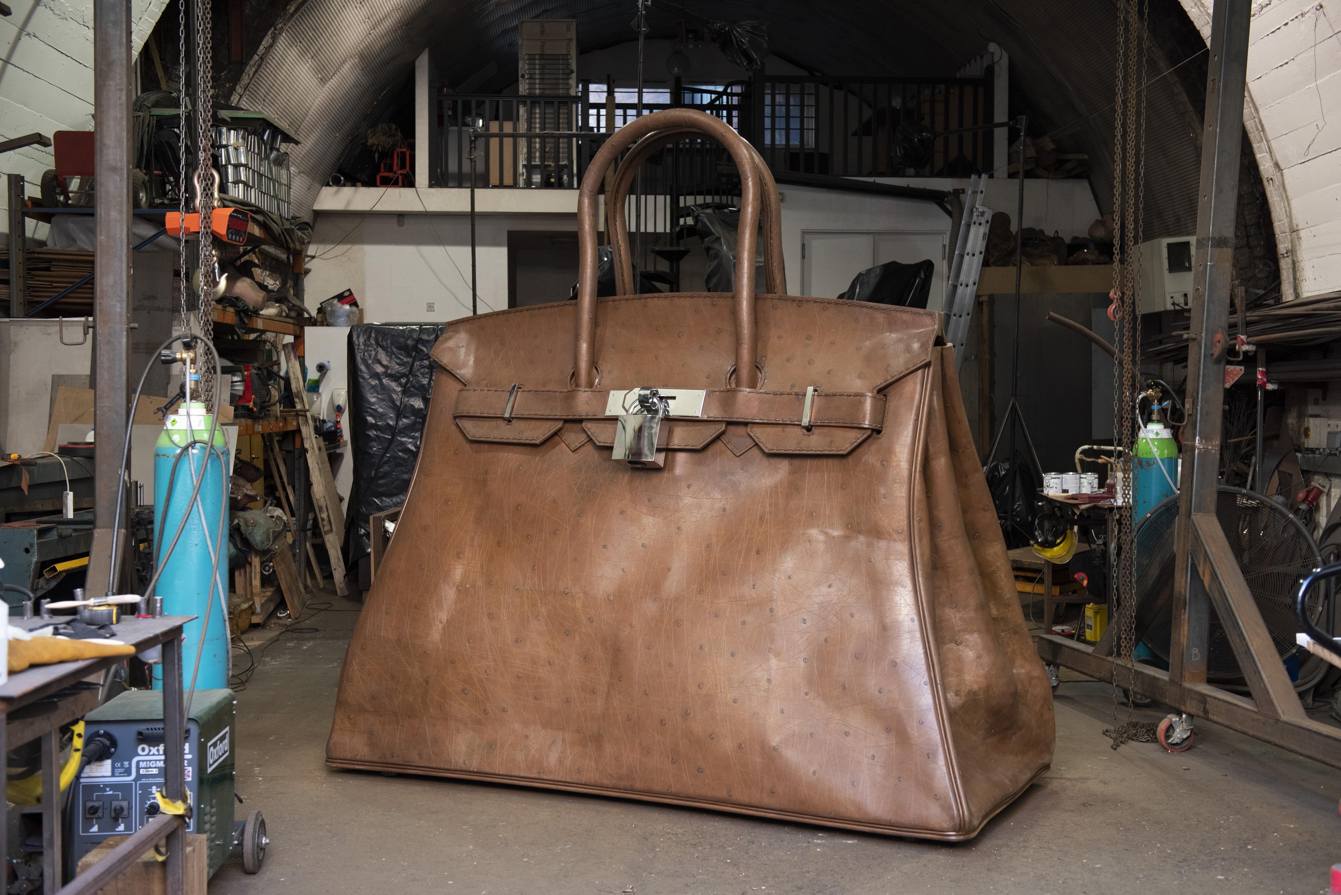 Bag of Aspirations sculpture by Kalliopi Lemos