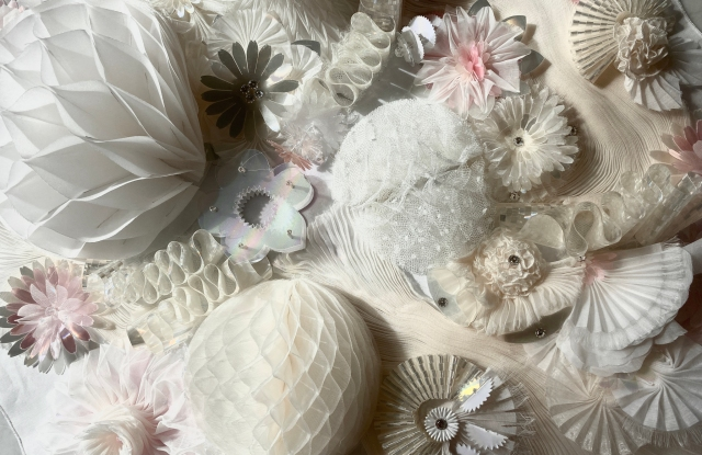 Maison Lemarié specializes in feathers, flowers, pleating and ruffles.