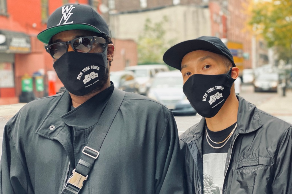Public School designers Maxwell Osborne and Dao-Yi Chow in their mask.