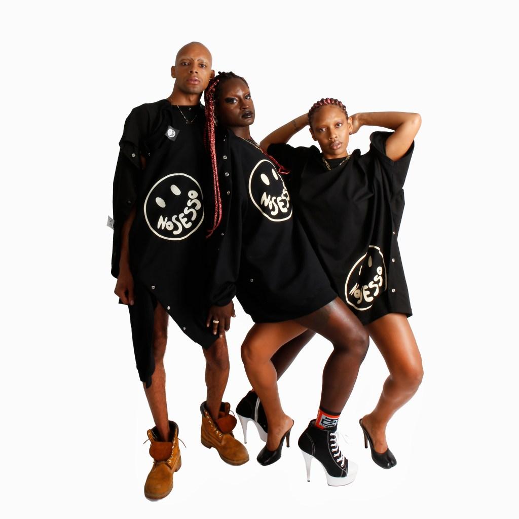 Arin Hayes, Pierre Davis and co-designer Autumn Randolph.