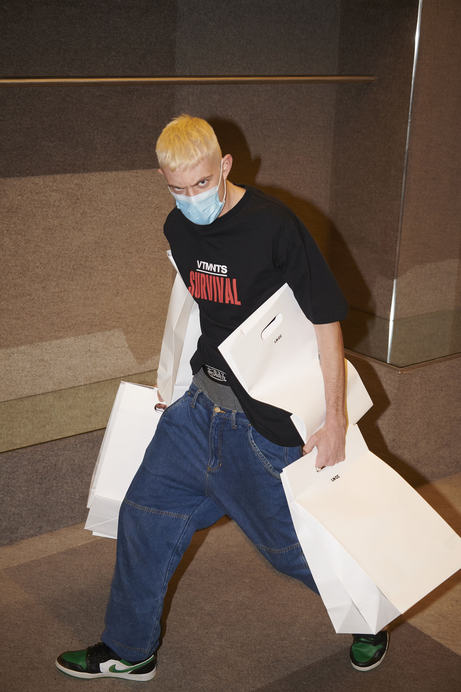 Vetements 'Survival' T-shirt for LN-CC 10th Anniversary 10.10 project.