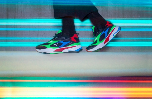 The latest colorful addition to Puma's RS line of sneakers.