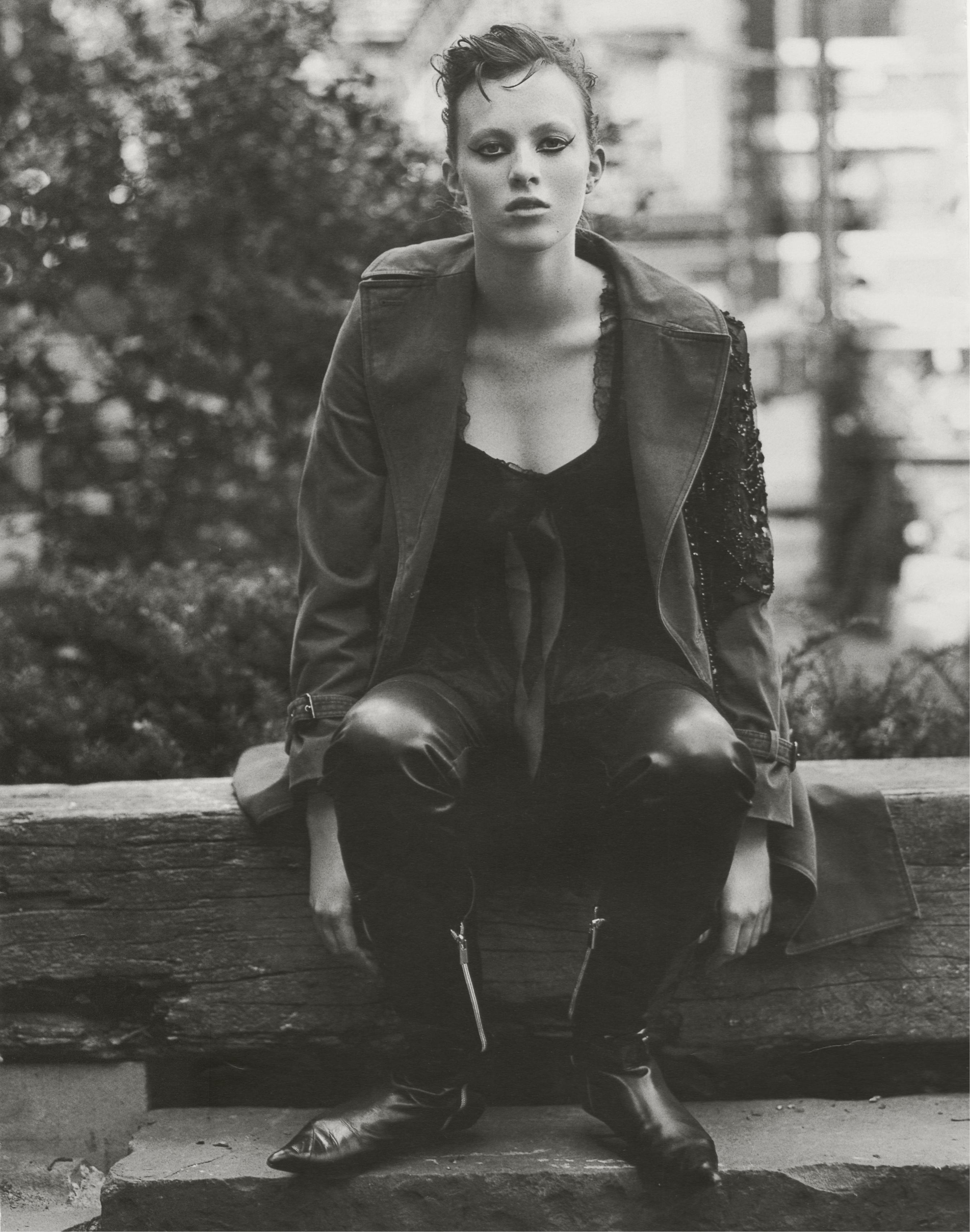 Karen Elson, photo by Thomas Schenk, Dutch, circa 2000.