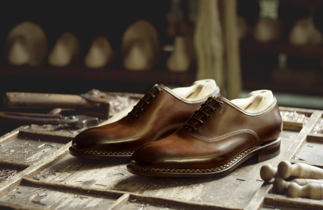 A pair of Tramezza men's shoes by Salvatore Ferragamo.