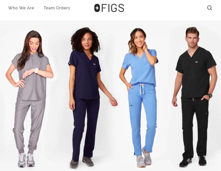 Figs scrubs homepage