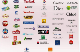 A list of French brands on Twitter.