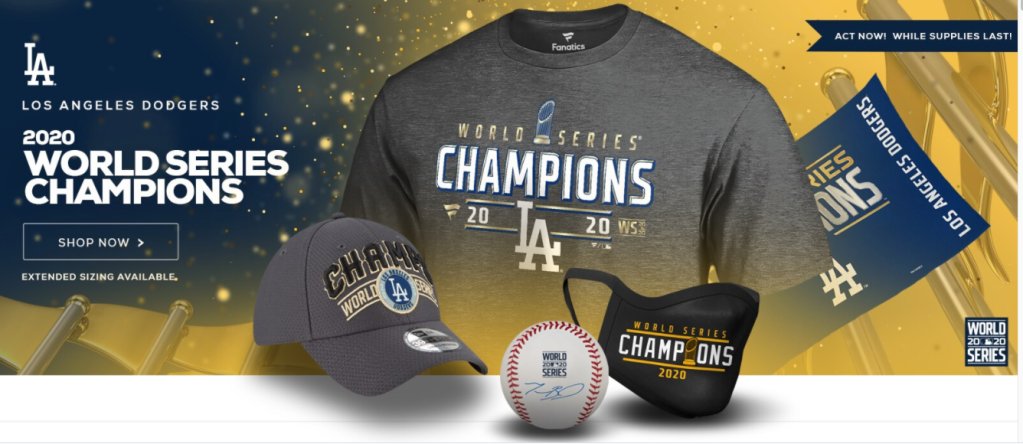 A selection of World Series items available on Fanatics.