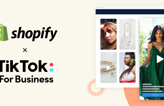 Shopify and TikTok will make it easier for merchants to lean on the short video platform.