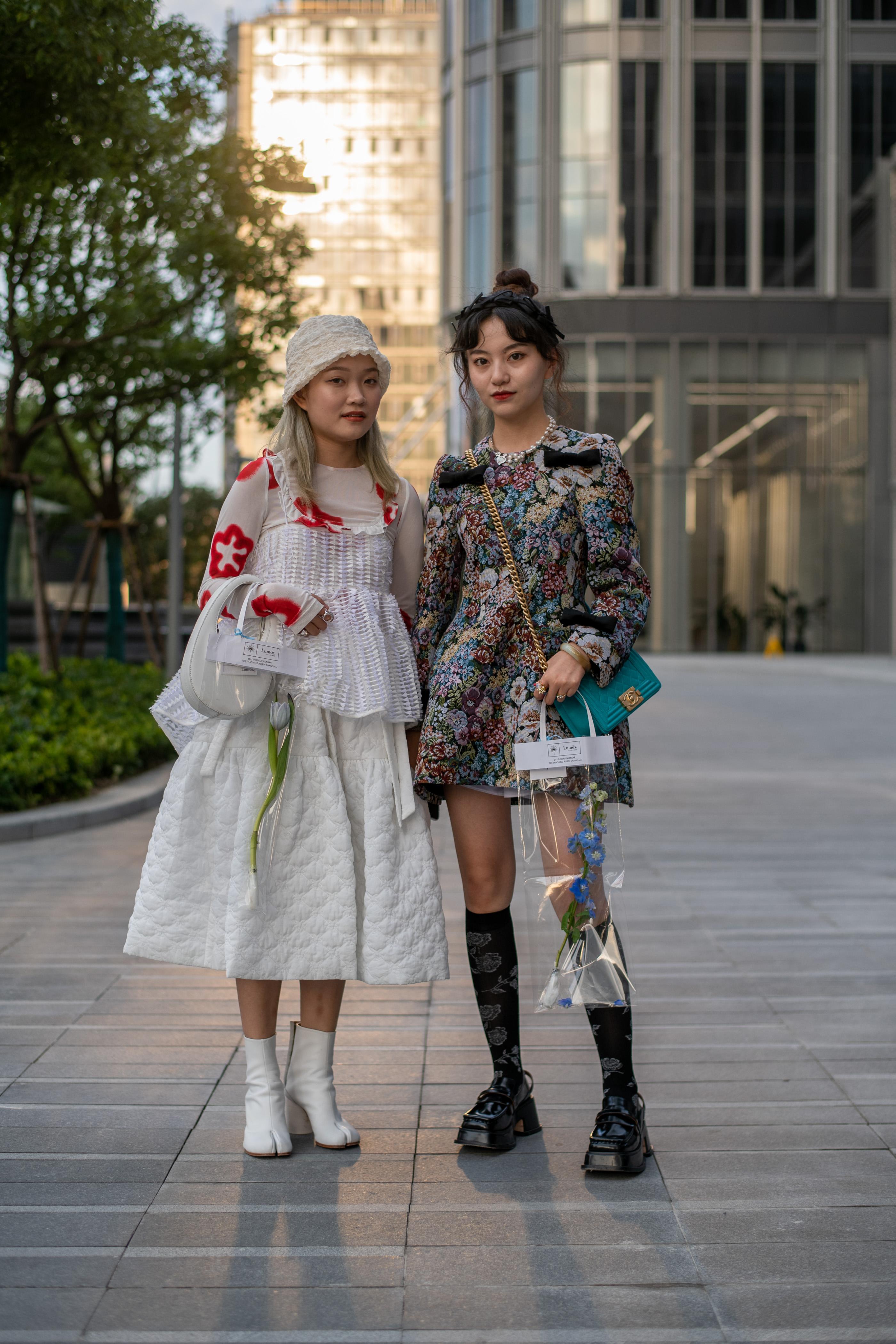 صحنه در هفته مد شانگهای بهار 2021.