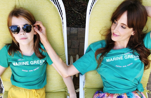 Tanya Taylor and Pantone have teamed up for a t-shirt capsule