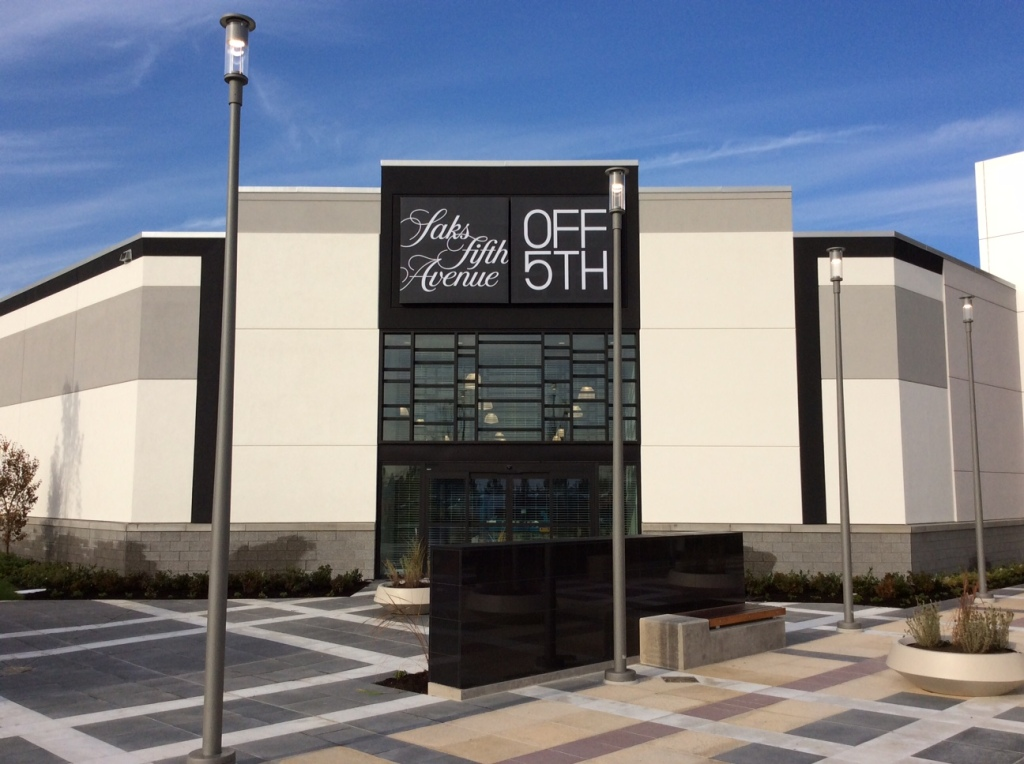 Saks Off 5th in Tsawwassen Mills in Delta, British Columbia, Canada.