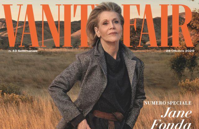 Jane Fonda on the cover of Vanity Fair Italia.