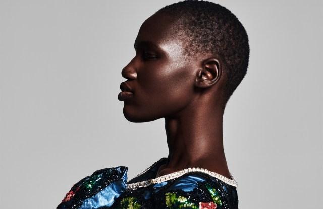 Model Eman Deng in the new Tings magazine.