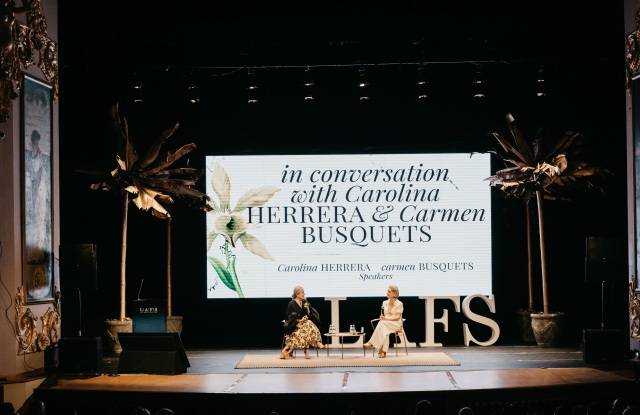 Carmen Busquets and Carolina Herrera in coversation at the Latin Amercian Fashion Summit.